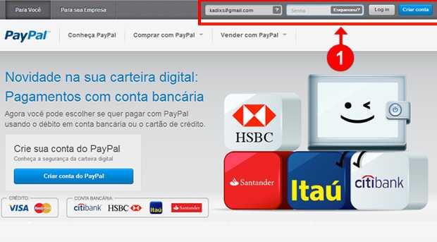 Como criar uma conta no PayPal (Foto: reprodução)