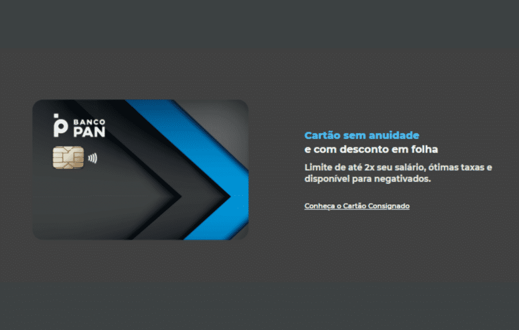 Cartão de crédito para negativados  banco Pan